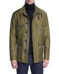 tom fordsatin cotton field jacket bright olive