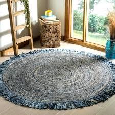 hand woven cape cod ivory denim jute rug round 5 braided 5x8