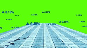 Green Screen Background Stock Market Exchange Trading Investment Trend Lines
