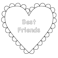Small Picture Heart Best Friends Coloring Page Valentines Day