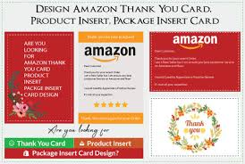 Design Amazon Thank You Card Product Insert Package Insert Card