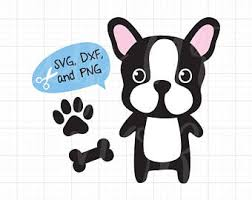 cute french bulldog clipart. Interesting French French Bulldog Boston Terrier Dog SVG Files For Cricut Or Silhouette Cute  Paw Print Bone DXF Cut File Clipart Clip Art To T
