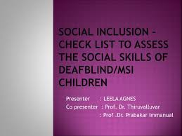 Ppt Social Inclusion Check List To Assess The Social