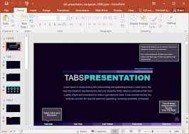 Interactive Tabbed Presentation Template For Powerpoint