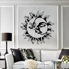 sun wall decal trendy designs: vinyl decal wall stickers sun kissing moon love romantic decor for living room z