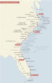 Icw Mileage Chart North Carolina Intracoastal Waterway Map