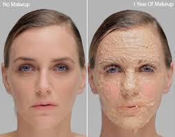 no makeup vs one year of makeup
