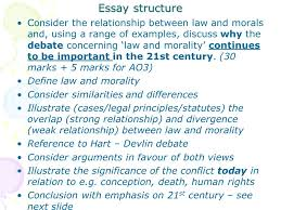 law and morals a law section c concepts of law ppt 25 essay structure consider the relationship between law