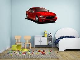 full color wall decal red car transport