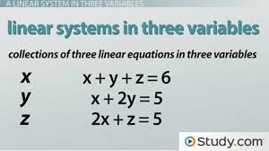how to solve a linear system in three variables with a solution lesson transcript study com