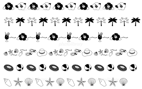 夏の飾り線 イラスト素材 5116301 フォトライブラリー Photolibrary
