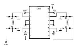 stepper motor control the pic northwestern mechatronics wiki wiring diagram for the l293b
