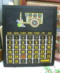 previous wooden perpetual wall calendar kit vintage