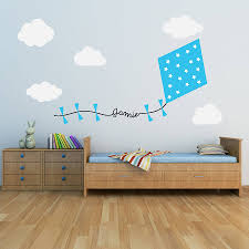 Small Picture personalised kite and clouds wall sticker by oakdene designs
