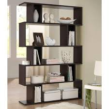 goodwin dark brown wood 5 tier open shelf