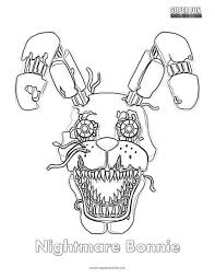 Outstanding Fnaf Coloring Pages Bonnie Nightmare Sheet Super Fun