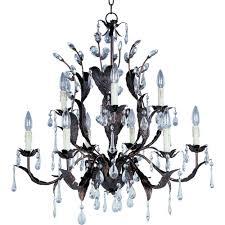 maxim lighting grove 9 light oil rubbed bronze chandelier