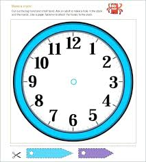 Free Printable Clock Face Template Blank Worksheet Hands Verbe Co
