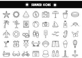 Summer Icons Summer Icons Royalty Free Vector Graphics