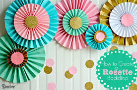 how to make paper rosettes supplies