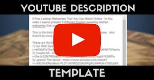 The Perfect Youtube Description Template - Why Video Is Great