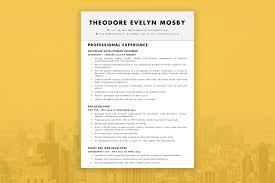 Theodore Evelyn Mosby Resume Template Resumezilla Resumezilla