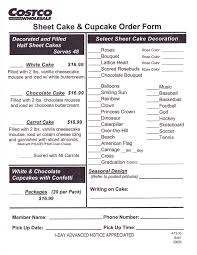 Costco Cake Order Form Cakepinscom Cams Birthday Costco Cake