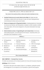 Resume For Human Resources Here Are Generalist Resource Format Best Human Resources Generalist Resume