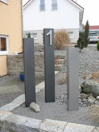 Stelen Aus Metall F R Garten Und Vorgarten Sichtschutz Cm Hoch Und Cm Breit Mit Licht Hause Und Garten Stelen Granit Stelen Metall
