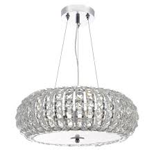 piazza 3 light ceiling pendant k9 crystal clear