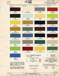 69 Camaro Color Chart Those Wild Paint Colors