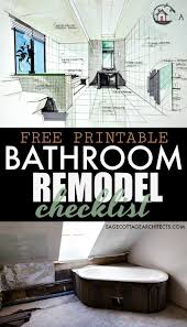 bathroom remodel checklist. Photo Collage With The Text Free Printable Bathroom Remodel Checklist Written On It I