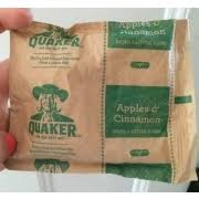 quaker instant oatmeal apples and cinnamon nutrition grade b