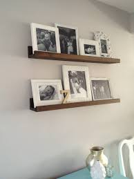 Wall Hung Cabinets Living Room Untreated Teak Wood Wall Mount Shelves With 4 Coat Hook With Wall
