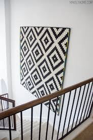 how to hang a rug on the wall best home ideas