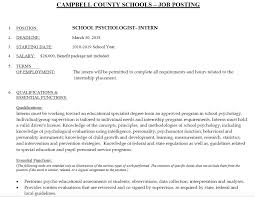 Job Posting For Ed S Program In School Psychology