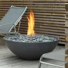paloform miso modern round outdoor fire pit  stardust