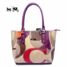 Quick View · Coach Satchels Bags Big Logo Medium Purple Ivory Outlet Sale  VIP Shop ...