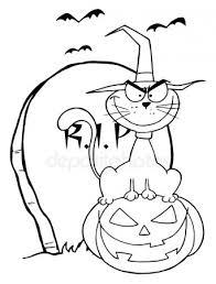 Halloween Kleurplaat Stockfotos Rechtenvrije Halloween Kleurplaat