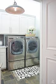 laundry room furniture. Laundry Room Ideas Stainless LG Washer And Dryer Slate Flooring Bar Pulls Delta Chrome Faucet Furniture