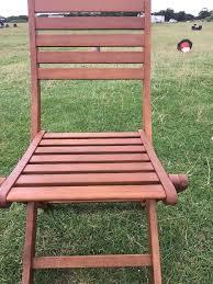4 x ex display john lewis naples wooden garden chairs
