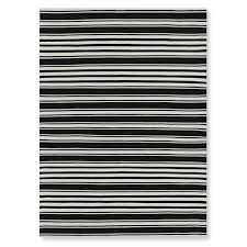 riviera stripe indoor outdoor rug 9x12 black