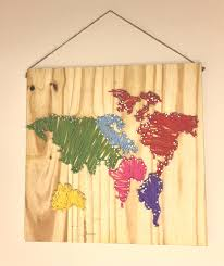 diy world map wall nail string art timelapse youtube intended for string map on diy string map wall art with photo gallery of string map wall art viewing 2 of 35 photos