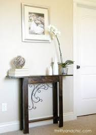small entry table. DIY Custom Sofa Table Small Entry A