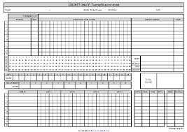 Cricket Score Chart Format Cricket Score Sheet 2 Pdfsimpli