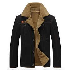 mens thick fleece turn down jacket fashion warm british style outdoor casual winter coat