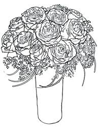 600x776 free coloring pages of roses rose bouquet for wife coloring page