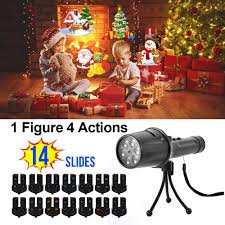 As Seen On Tv Window Wonderland Christmas Decoration Light Projector Holiday Led Projector Light Elec3 14 Slides Christmas Projector Light Portable Handheld Flashlight With Dynamic And Static Images Halloween Easter