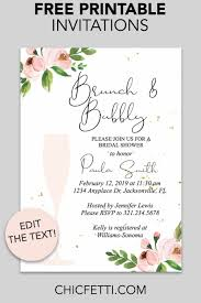 Free Bridal Shower Invite Templates Bridal Shower Printable Invitation Floral Bubbly Free