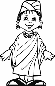 Small Picture A happy kid from Africa coloring images free printable Enjoy
